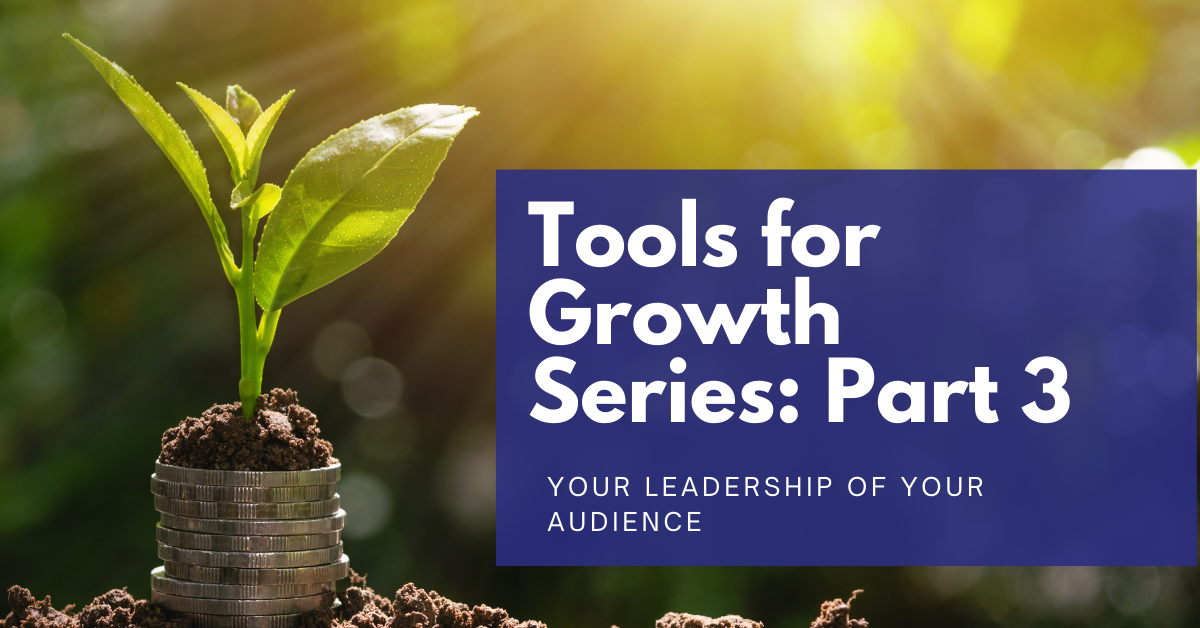 You are currently viewing Tools for Growth Series: Part 3 – Your Leadership of Your Audience